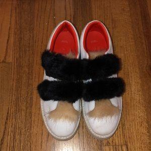 ZARA fluffy velcro sneakers